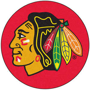 Fan Mats NHL Chicago Blackhawks Puck Mat