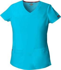 Dickies Women's Junior Fit V-Neck Scrub Top