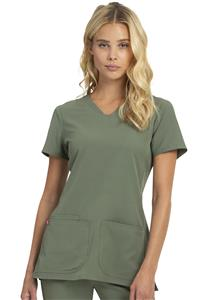Heartsoul Womens Pitter-Pat V-Neck Scrub Top