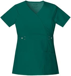 Cherokee Junior Fit Mock Wrap Scrub Top