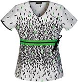 Runway Womens Let's Get Fish-ical V-Neck Scrub Top