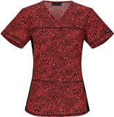 Cherokee Women's V-Neck Knit Panel Scrub Tops