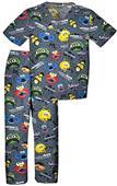 Tooniforms Kid's Sesame Street Mustache Scrub Set