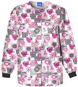 Scrub HQ Breast Cancer Words of Love Scrub Jacket