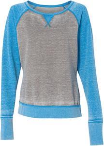 J America Ladies Contrast Zen Crew Sweatshirt