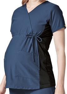 WonderWink Maternity Mock Wrap Scrub Top