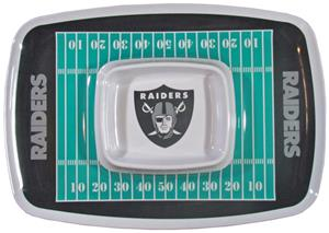 NFL Oakland Raiders Chip & Dip Tray