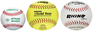 Baseballs and Softballs
