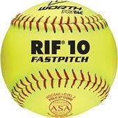 "Worth 12"" RIF 10 ASA ProTac Fastpitch Softballs"