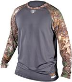Louisville Slugger Compression Raglan Camo Shirt