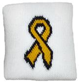 Red Lion Childhood Cancer Gold Ribbon Wristbands