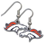 Silver Moon Denver Broncos Short Dangle Earrings