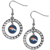 Silver Moon NFL Denver Broncos CZ Earrings