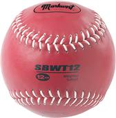 "Markwort 12"" Color Coded Weighted Leather Softball"