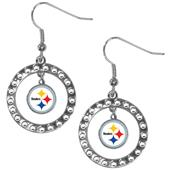 Silver Moon NFL Pittsburgh Steelers CZ Earrings
