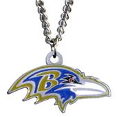 Silver Moon NFL Baltimore Ravens Charm Necklace