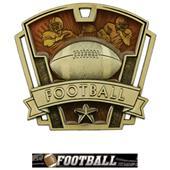 """Hasty Awards 3"""" Varsity Football Medals M-787F"""