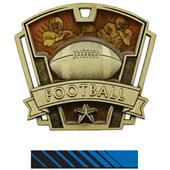 "Hasty Awards 3"" Varsity Football Medals M-787F"