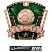 "Hasty Awards 3"" Varsity Soccer Medals M-787S"