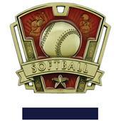 "Hasty Awards 3"" Varsity Softball Medals M-787O"