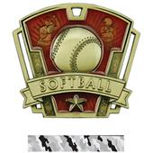 "Hasty Awards 3"" Varsity Softball Medals M-787O"