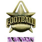 "Hasty Awards 2"" All-Star Football Medals M-790F"