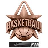 """Hasty Awards 2"""" All-Star Basketball Medals M-790B"""