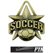 """Hasty Awards 2"""" All-Star Soccer Medals M-790S"""