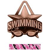 """Hasty Awards 2"""" All-Star Swimming Medals M-790W"""
