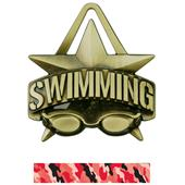 "Hasty Awards 2"" All-Star Swimming Medals M-790W"
