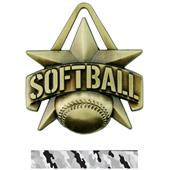 "Hasty Awards 2"" All-Star Softball Medals M-790O"