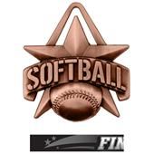 """Hasty Awards 2"""" All-Star Softball Medals M-790O"""