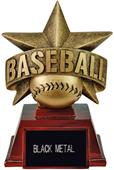 "Hasty Awards 6"" All Star Resin Baseball Trophy"