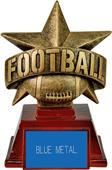 "Hasty Awards 6"" All Star Resin Football Trophy"