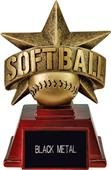 "Hasty Awards 6"" All Star Resin Softball Trophy"