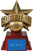 "Hasty Awards 6"" All Star Resin Softball Trophy"