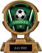 "Hasty Awards 7"" Sky Tower Resin Soccer Trophy"