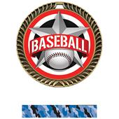 "Hasty Awards 2.5"" All-Star Crest Baseball Medals"