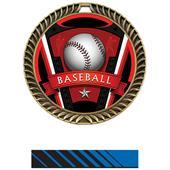 "Hasty Awards 2.5"" Varsity Crest Baseball Medals"