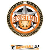 """Hasty Awards 2.5"""" All-Star Crest Basketball Medals"""