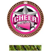 """Hasty Awards 2.5"""" All-Star Crest Cheer Medals"""