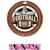 "Hasty Awards 2.5"" All-Star Crest Football Medals"
