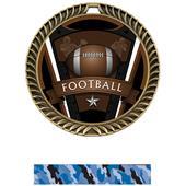 "Hasty Awards 2.5"" Varsity Crest Football Medals"