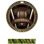"Hasty Awards 2.5"" Varsity Crest Football Medals"