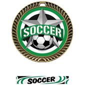 """Hasty Awards 2.5"""" All-Star Crest Soccer Medals"""