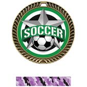 "Hasty Awards 2.5"" All-Star Crest Soccer Medals"