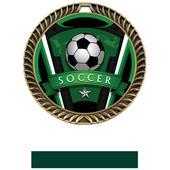 "Hasty Awards 2.5"" Varsity Crest Soccer Medals"