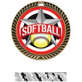 "Hasty Awards 2.5"" All-Star Crest Softball Medals"