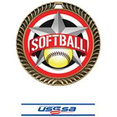 """Hasty Awards 2.5"""" All-Star Crest Softball Medals"""