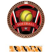 "Hasty Awards 2.5"" Varsity Crest Softball Medals"